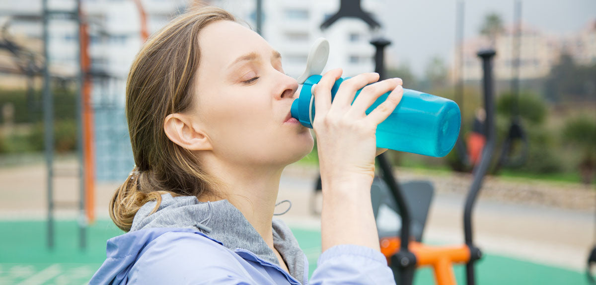 woman drinking phen drink for weight loss