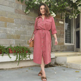 Bombay Pink Shirt Dress