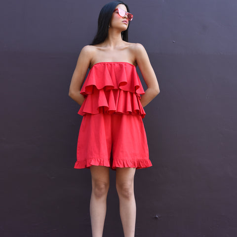 Pure Red Romper