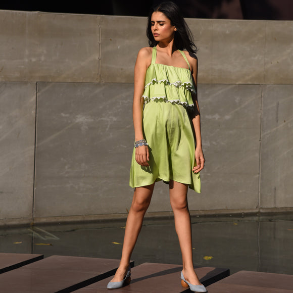 Shadow Lime Romper