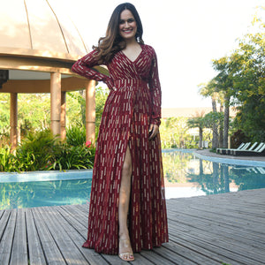 Rhubarb Georgette Dress