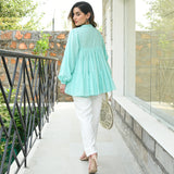 Iced Aqua Cotton Top