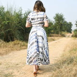 Skydiver Chiffon Handpainted Dress