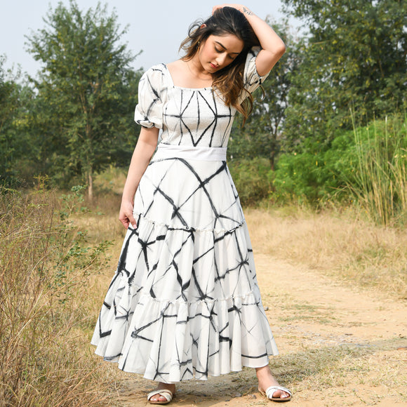Phantom Shibori Cotton Dress