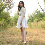 White Chiffon Hand painted Dress