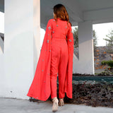Tomato Red Moss Jumpsuit