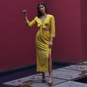 Lemon Tonic Polka Dot Set