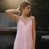 Blush Pink Lurex Dress