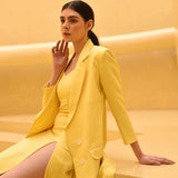 Lemon Tart Overlay Blazer Set