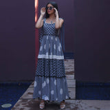 Stone Grey Polka Cotton Dress