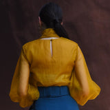 Blue & Mustard Pants Top Set