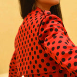 High Risk Red Polka Trench Coat