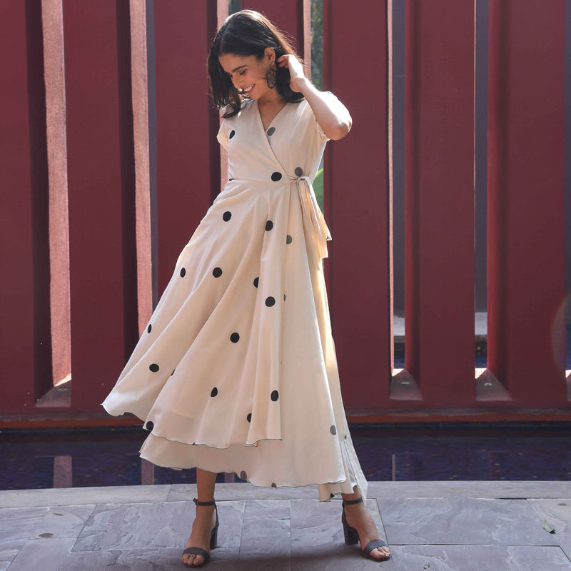 Vanilla Bean Polka Cotton Dress