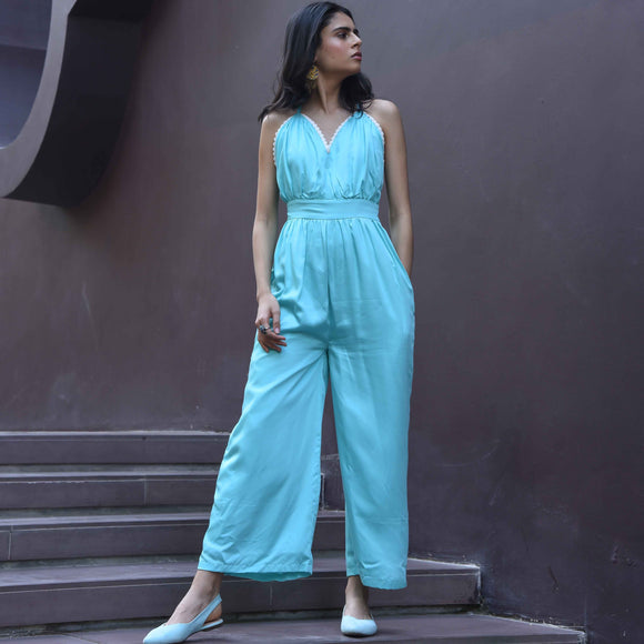 Limpet Satin Jumpsuit