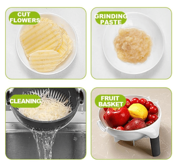 5-in-1 Drainage Slicing Bowl