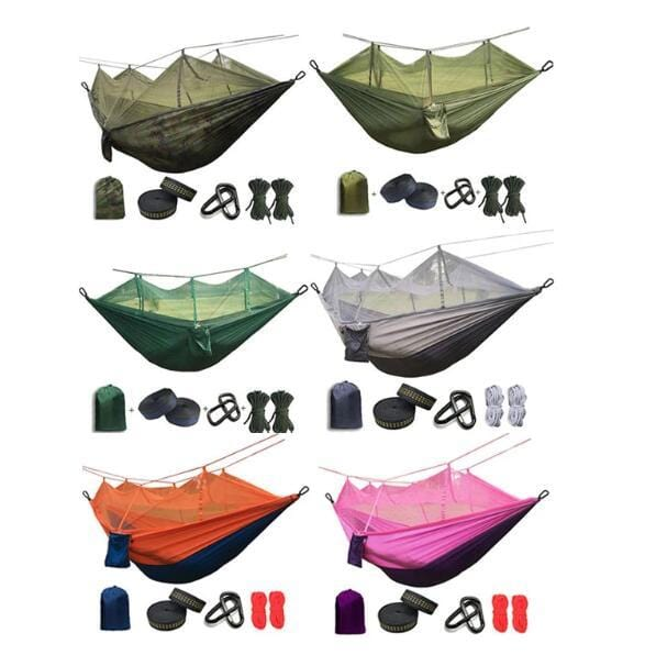 【New outdoor hammocks, up to 45% discount】Outdoor camping anti-mosquito bite hammock