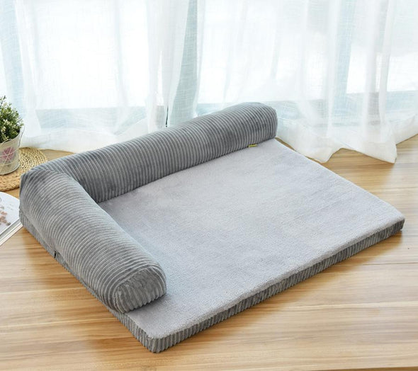 Luxury Removable Soft Lounge Orthopedic Dog Bed,Gray