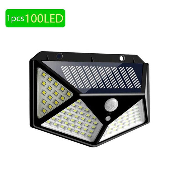 4 Pieces Led Solar Light Outdoor Waterproof 4-Side Solar Powered Lamp 270 Degree Pir Motion Sensor Wall Lamp Garden Solar Light