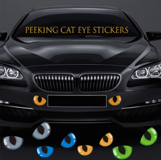 【50% OFF & Buy more save more】 Cat Eyes Car Stickers