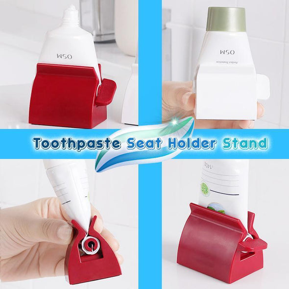Rolling Tube Toothpaste Squeezer Dispenser Toothpaste Seat Holder Stand