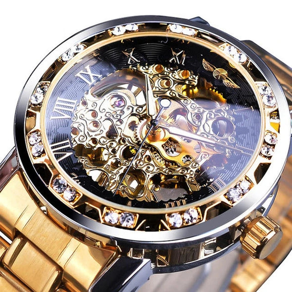 Transparent Diamond Mechanical Watch(Get Sunglasses For Free)