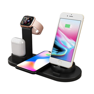 3 in 1 wireless charging station for iPhone, iwatch, and airpods