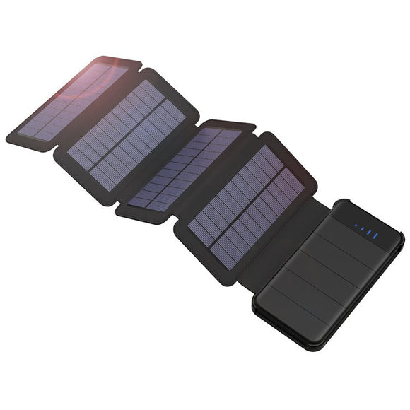 Detachable solar power 10000mah with foldable rolled up solar panels