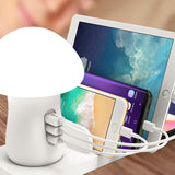 New multi mushroom wireless desktop usb charger station with led and quick charge 3.0