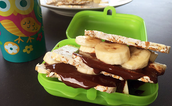 Banana Chocolate Wheat Cakes Toasties