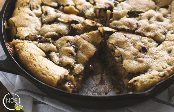 Vegan Chocolate Chip Cookie Pie