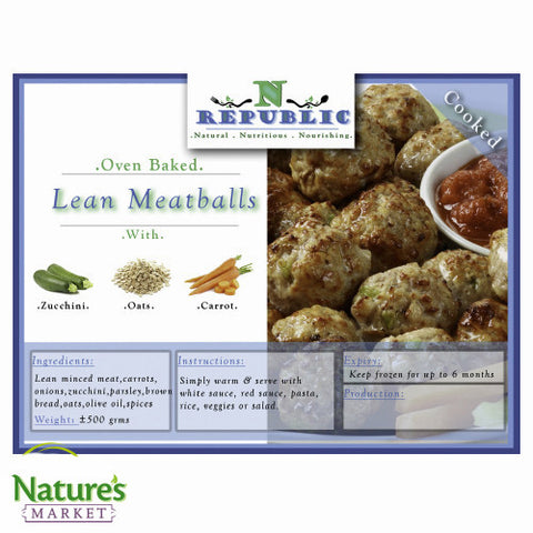 Lean Meatballs (Frozen)