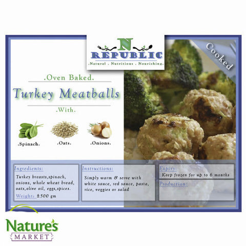 Turkey Meatballs (Frozen)