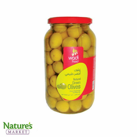 Pickled Green Olives with Pits