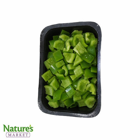 Green Pepper - Sliced (Large Dice) - High Grade