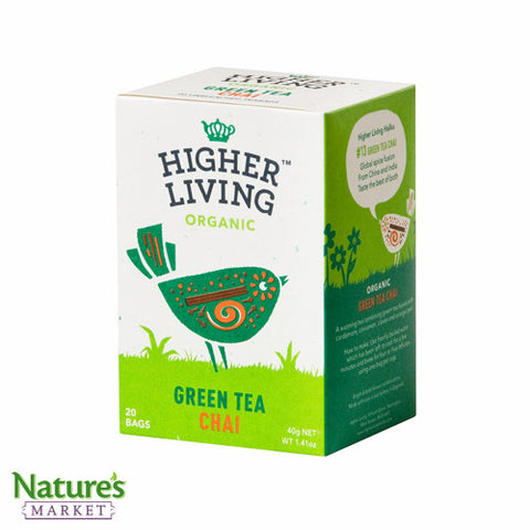 Higher Living Green Tea Chai (Organic)