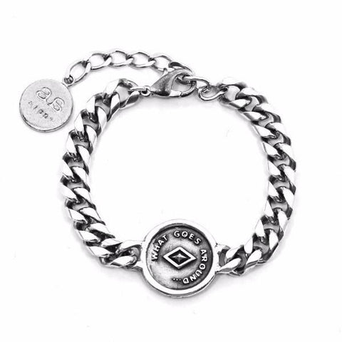 JAMIE Bracelet - Silver with White Leather