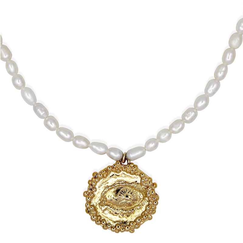 CLEODORA Necklace - Pearl & Gold