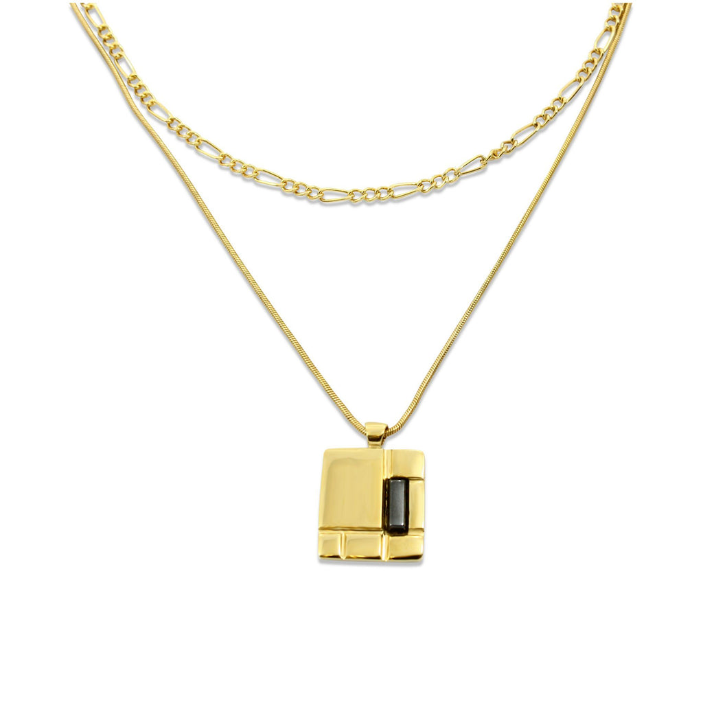 DOUBLE PIET Necklace - Gold