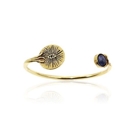 EYENAMOUR Bangle - Gold and Sodalite