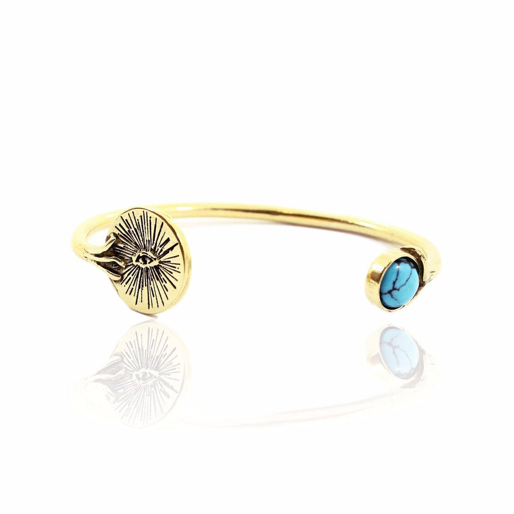 EYENAMOUR Bangle - Gold and Turquoise - Alona  - 1