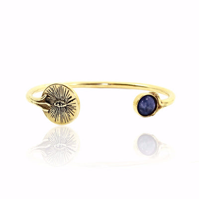 EYENAMOUR Bangle - Gold and Sodalite - Alona  - 1