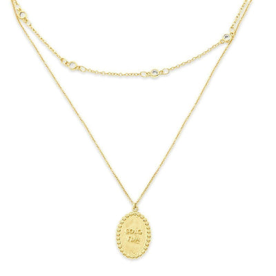 SOLO TUA Double Necklace - Gold