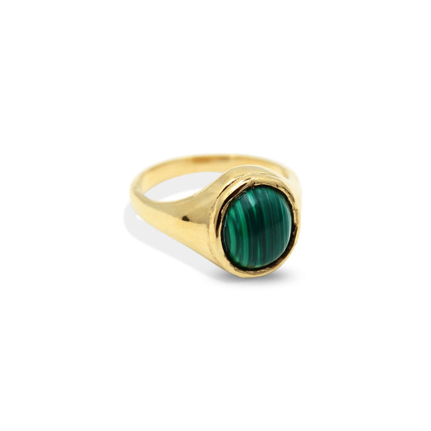 JULIETTE Ring - Gold and Malachite