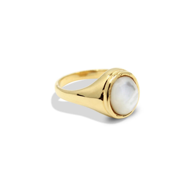 JULIETTE Ring - Gold and Mother of Pearl