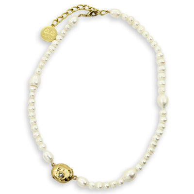 AEOLIAN Bead Necklace - Gold with Pearls