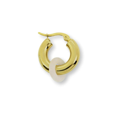 SIDEKICK Hoop Earring - Gold with Rose Quartz