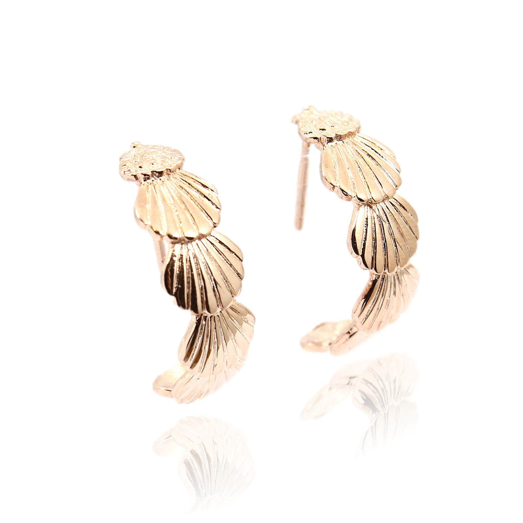 LOLA Demi Hoop Earrings - Rose Gold