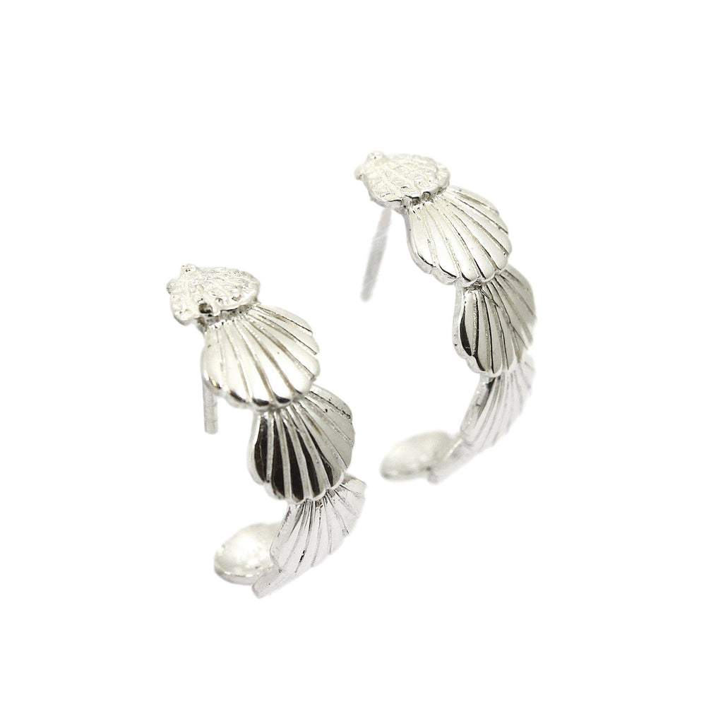 LOLA Demi Hoop Earrings - Sterling Silver