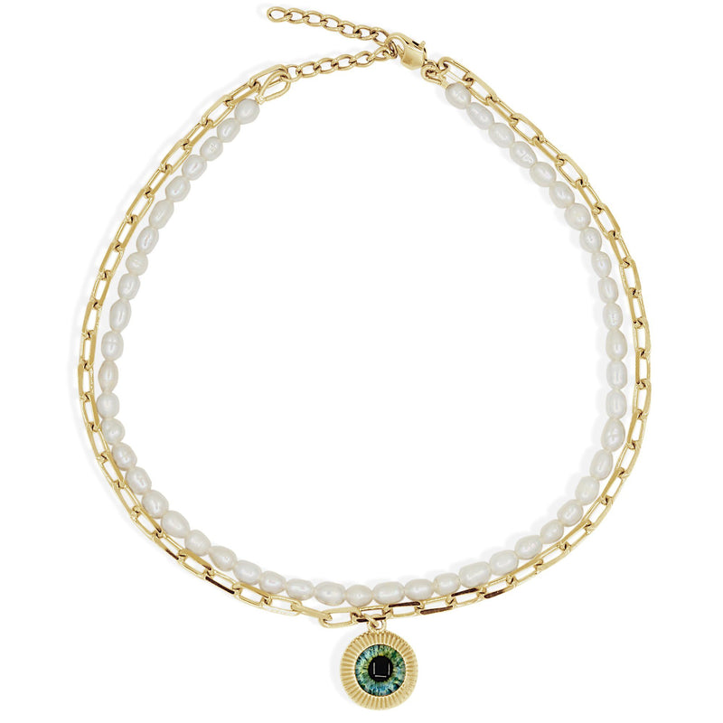 SORAYA necklace - Gold and Pearl