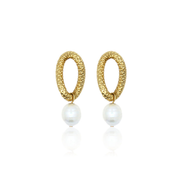 TIFFANY Pearl Earrings - Gold